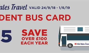 Mid Wales Travel Student Bus Card