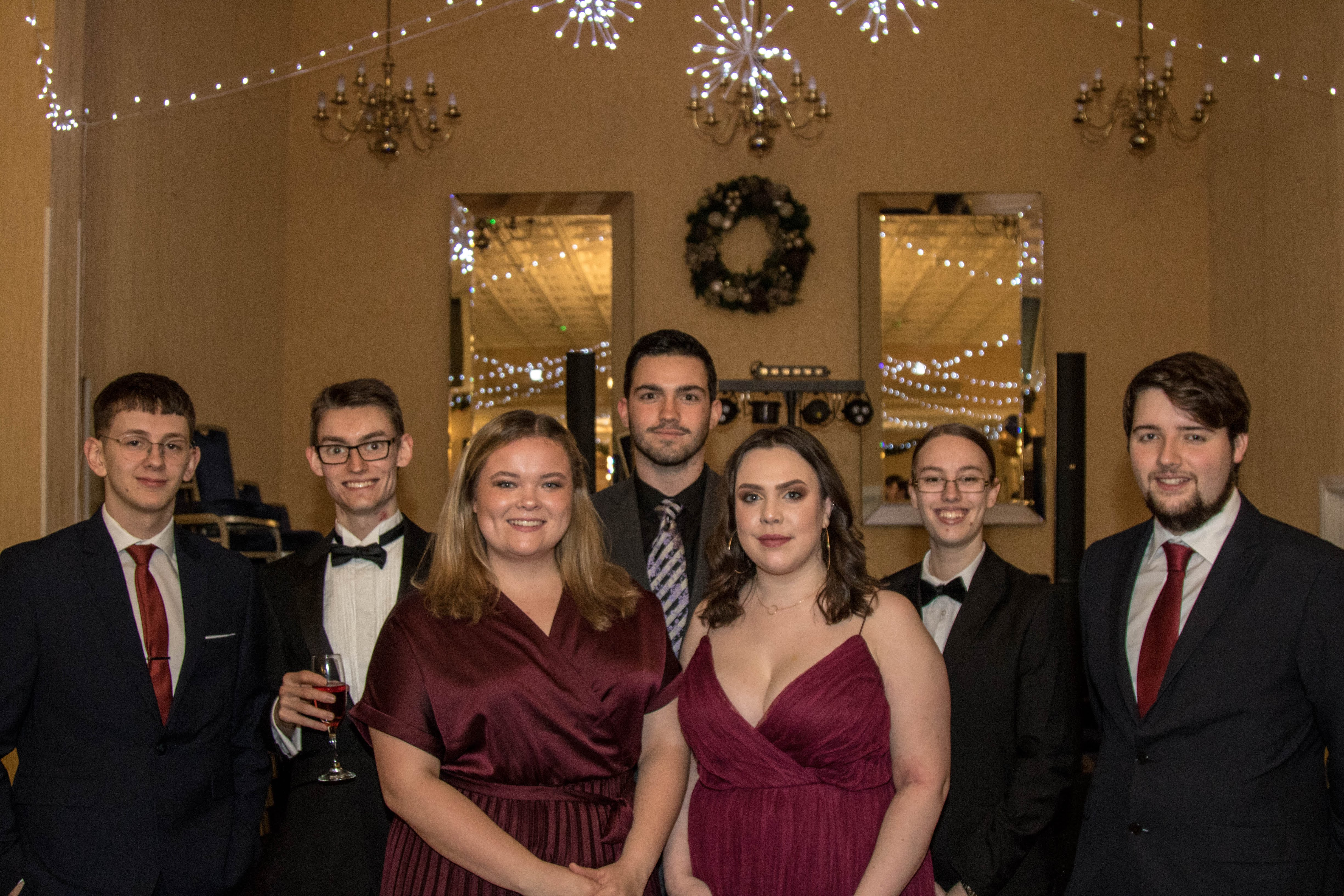 Committee of Aberystwyth Law Society at the Winter Ball